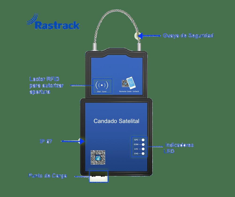 Candado Satelital Rastrack