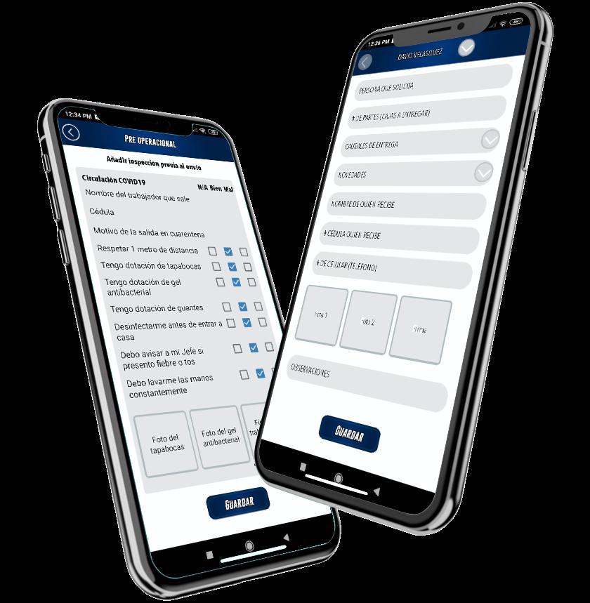 App localizacion, rastreo y formularios
