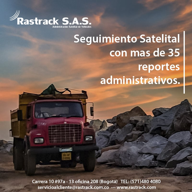 Equipos de Monitoreo Satelital Rastrack para volquetas